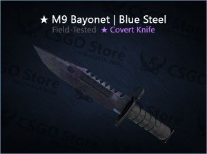 ★ M9 Bayonet | Blue Steel (Field-Tested)