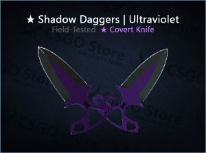 ★ Shadow Daggers | Ultraviolet (Field-Tested)
