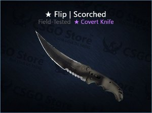 ★ Flip Knife | Scorched (Field-Tested)