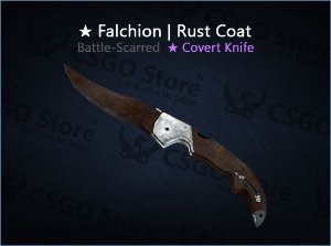 ★ Falchion Knife | Rust Coat (Battle-Scarred)