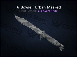 ★ Bowie Knife | Urban Masked (Field-Tested)
