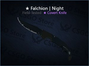 ★ Falchion Knife | Night (Field-Tested)