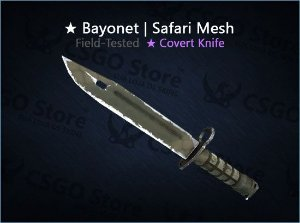 ★ Bayonet | Safari Mesh (Field-Tested)