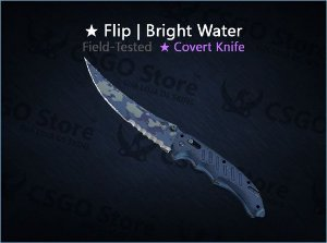 ★ Flip Knife | Bright Water (Field-Tested)