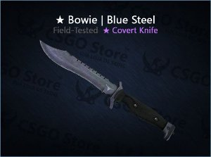 ★ Bowie Knife | Blue Steel (Field-Tested)