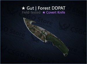 ★ Gut Knife | Forest DDPAT (Field-Tested)