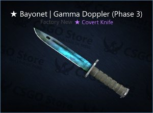 ★ Bayonet | Gamma Doppler Phase 3 (Factory New)