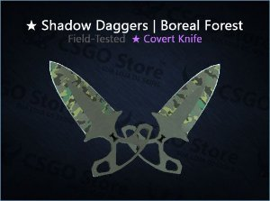 ★ Shadow Daggers | Boreal Forest (Field-Tested)
