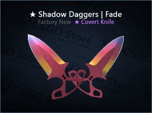 ★ Shadow Daggers | Fade (Factory New)