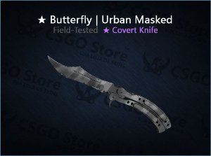 ★ Butterfly Knife | Urban Masked (Field-Tested)