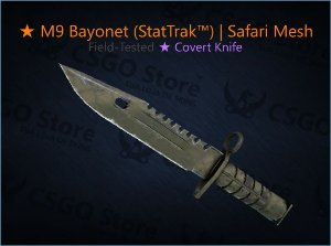 ★ M9 Bayonet (StatTrak™) | Safari Mesh (Field-Tested)