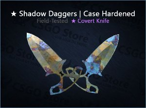 ★ Shadow Daggers | Case Hardened (Field-Tested)