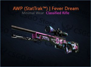 AWP (StatTrak™) | Fever Dream (Minimal Wear)