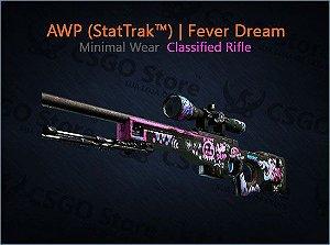 AWP (StatTrak™) | Fever Dream (Minimal Wear)