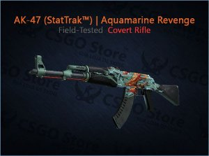 AK-47 (StatTrak™) | Aquamarine Revenge (Field-Tested)