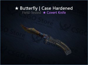 ★ Butterfly Knife | Case Hardened (Field-Tested)