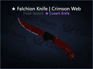 ★ Falchion Knife | Crimson Web (Field-Tested)