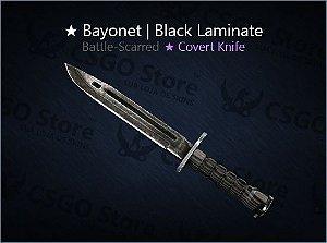 ★ Bayonet   Black Laminate (Battle-Scarred)