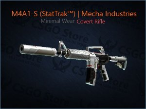 M4A1-S (StatTrak™)| Mecha Industries (Minimal Wear)