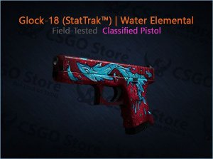 Glock-18 (StatTrak™) | Water Elemental (Field-Tested)