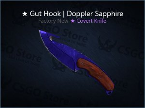 ★ Gut Knife | Doppler Sapphire (Factory New)