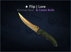 ★ Flip Knife | Lore (Minimal Wear)