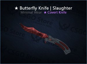 ★ Butterfly Knife | Slaughter (Minimal Wear)