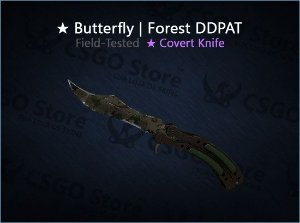 ★ Butterfly Knife | Forest DDPAT 0.16 (Field-Tested)