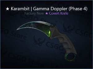 ★ Karambit | Gamma Doppler Phase 4 (Factory New)