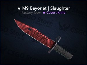 ★ M9 Bayonet | Slaughter (Factory New)