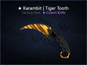 ★ Karambit | Tiger Tooth (Factory New)