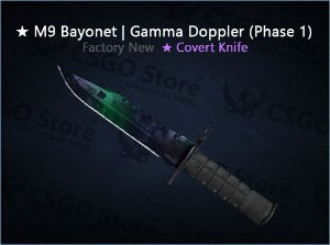 ★ M9 Bayonet | Gamma Doppler Phase 1 (Factory New)