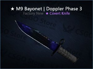 ★ M9 Bayonet | Doppler Phase 3 (Factory New)