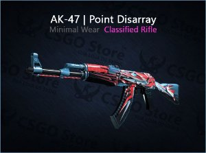 AK-47 | Point Disarray (Minimal Wear)