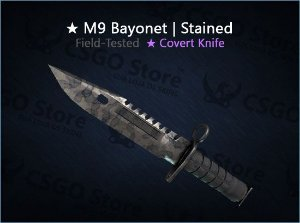 ★ M9 Bayonet | Stained (Field-Tested)
