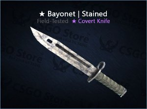 ★ Bayonet | Stained (Field-Tested)