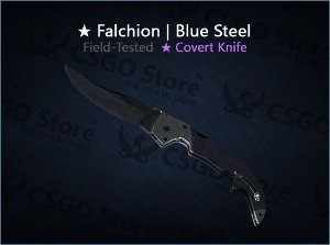 ★ Falchion Knife | Blue Steel (Field-Tested)