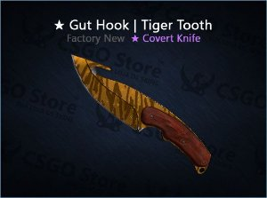 ★ Gut Knife | Tiger Tooth (Factory New)