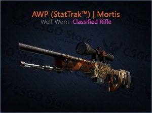 AWP (StatTrak™) | Mortis (Well-Worn)