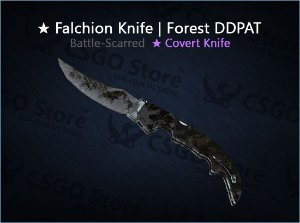 ★ Falchion Knife | Forest DDPAT (Battle-Scarred)