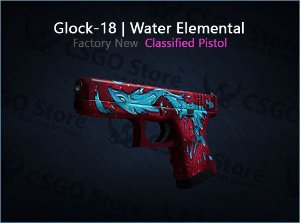 Glock-18 | Water Elemental (Factory New)