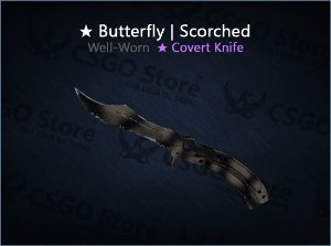 ★ Butterfly Knife | Scorched (Well-Worn)