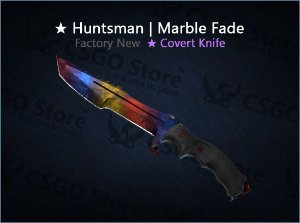 ★ Huntsman Knife | Marble Fade (Factory New)