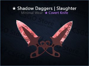 ★ Shadow Daggers | Slaughter (Minimal Wear)