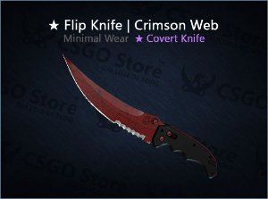 ★ Flip Knife | Crimson Web (Minimal Wear)