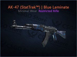 AK-47 (StatTrak™) | Blue Laminate (Minimal Wear)