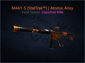 M4A1-S (StatTrak™)   Atomic Alloy (Field-Tested)