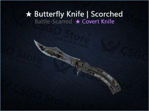 ★ Butterfly Knife | Scorched (Battle-Scarred)