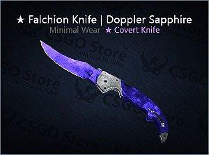 ★ Falchion Knife| Doppler Sapphire (Minimal Wear)