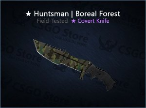 ★ Huntsman Knife | Boreal Forest 0.17  (Field-Tested)